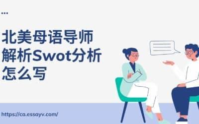 北美母语导师以Hawei为例 – 解析Swot分析怎么写.